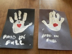 Paid In Full Handprints
