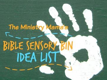 Bible Sensory Bin Idea List
