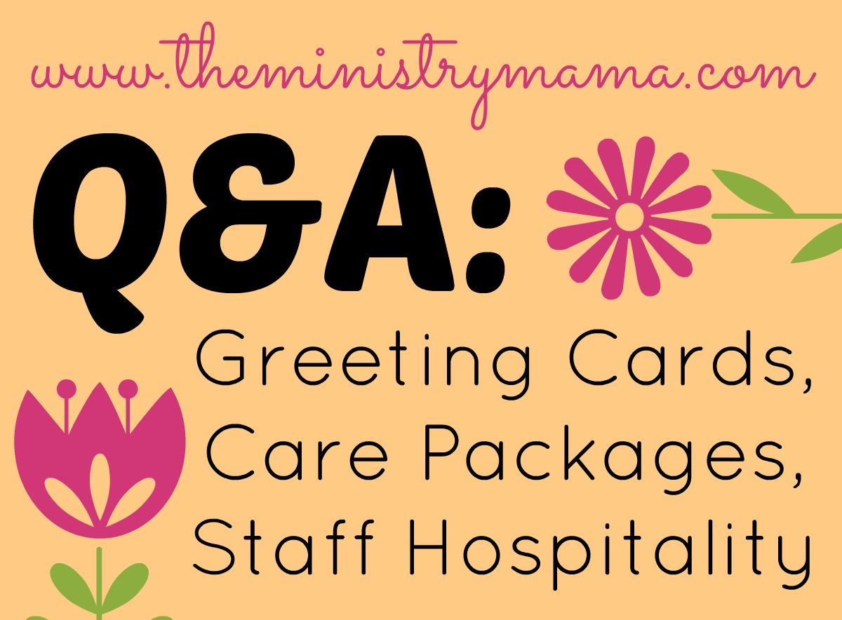 QA Greeting Cards Care Packages Staff Hospitality The Ministry