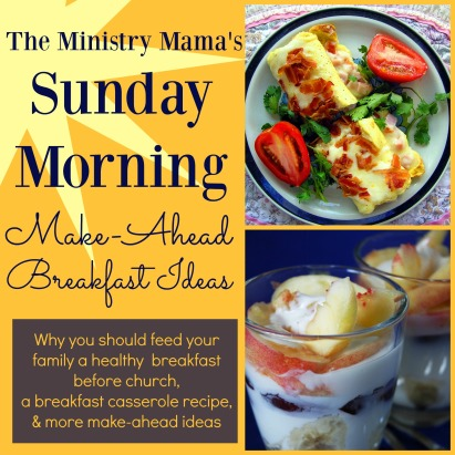 Sunday Morning Make Ahead Breakfast Ideas